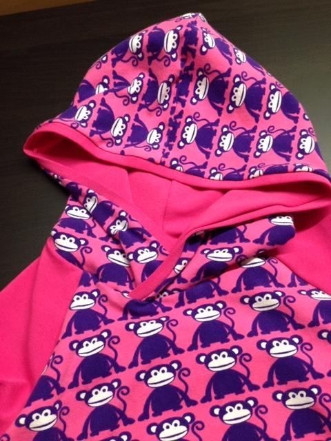 Hoody Affen pink